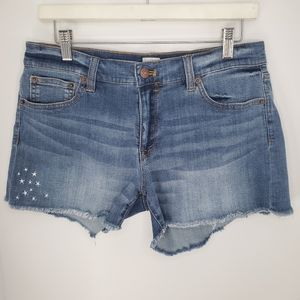 J. CREW FACTORY Embroidered Jean Shorts, 29